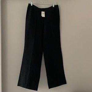 J. Jill 100% Linen Trousers. Black.